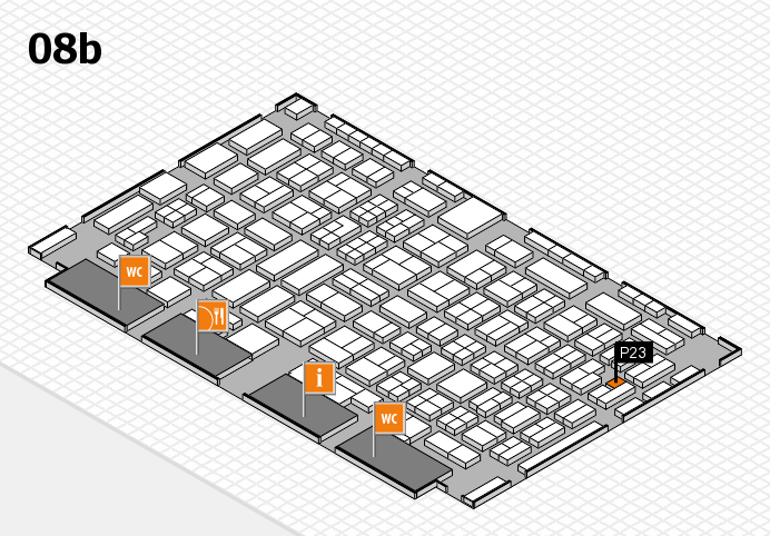 COMPAMED 2016 hall map (Hall 8b): stand P23