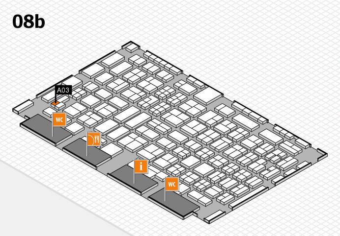 COMPAMED 2016 hall map (Hall 8b): stand A03