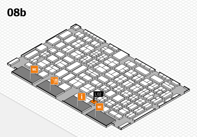 COMPAMED 2016 hall map (Hall 8b): stand L02
