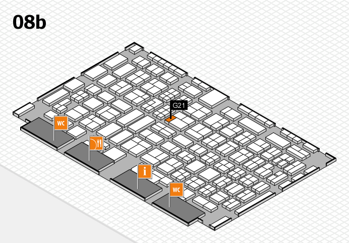 COMPAMED 2016 hall map (Hall 8b): stand G21