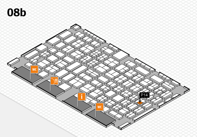 COMPAMED 2016 hall map (Hall 8b): stand P14