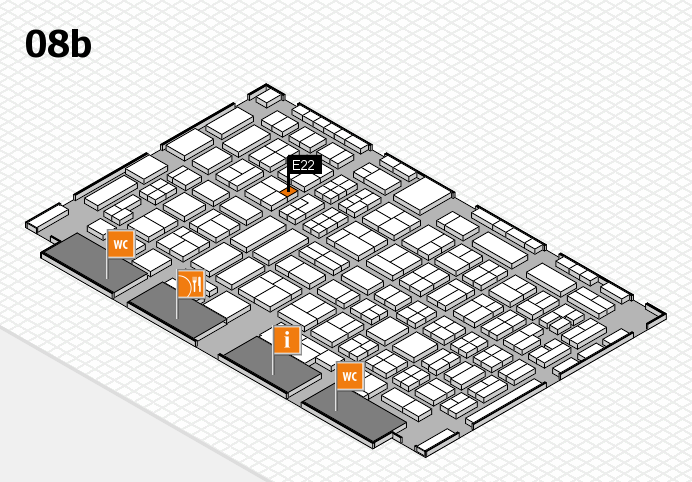 COMPAMED 2016 hall map (Hall 8b): stand E22