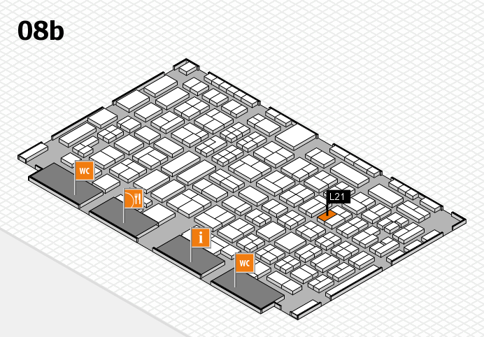COMPAMED 2016 hall map (Hall 8b): stand L21