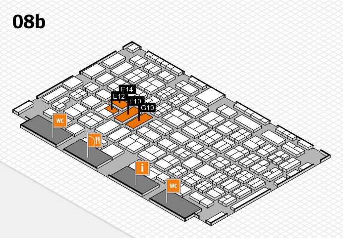 COMPAMED 2016 hall map (Hall 8b): stand E12, stand G10