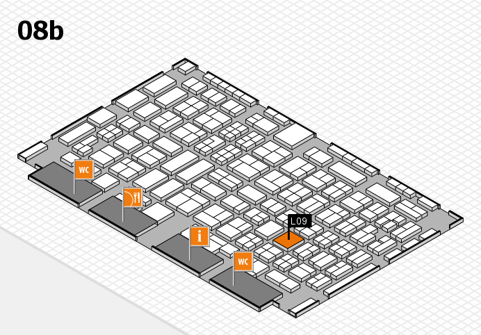 COMPAMED 2016 hall map (Hall 8b): stand L09