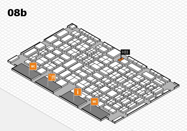 COMPAMED 2016 Hallenplan (Halle 8b): Stand H33