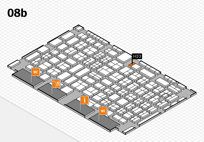 COMPAMED 2016 hall map (Hall 8b): stand H33