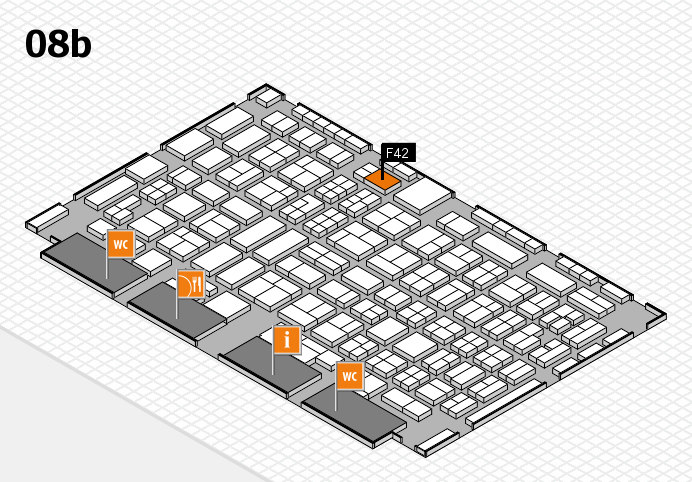 COMPAMED 2016 hall map (Hall 8b): stand F42