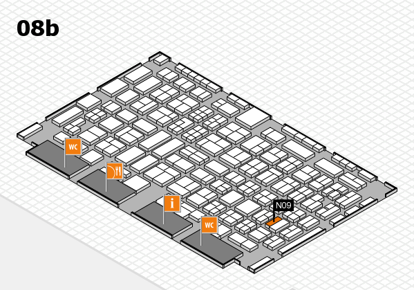 COMPAMED 2016 hall map (Hall 8b): stand N09