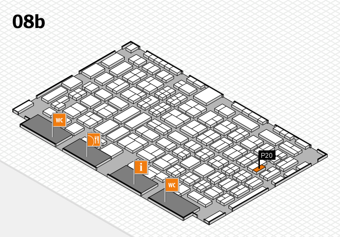 COMPAMED 2016 hall map (Hall 8b): stand P20