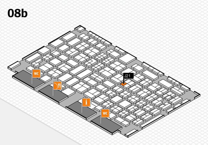 COMPAMED 2016 hall map (Hall 8b): stand J21