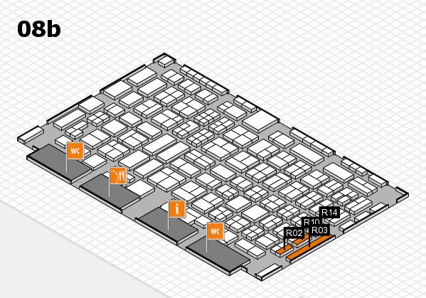 COMPAMED 2016 Hallenplan (Halle 8b): Stand R02, Stand R14