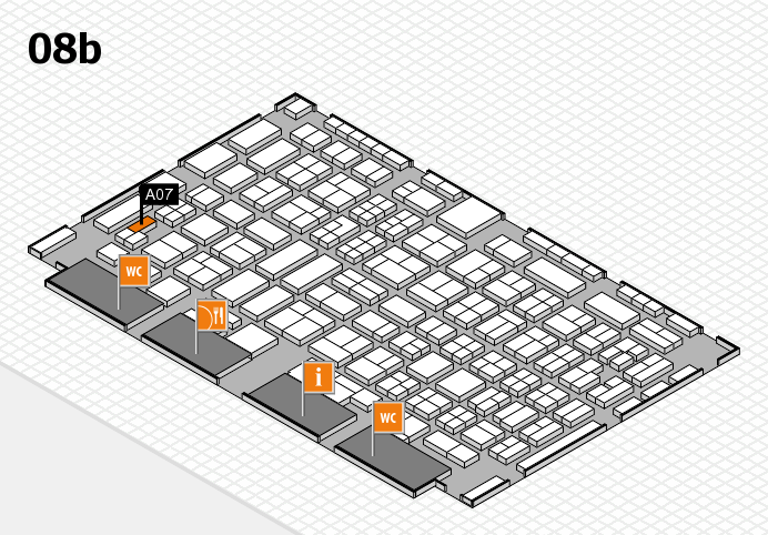 COMPAMED 2016 hall map (Hall 8b): stand A07