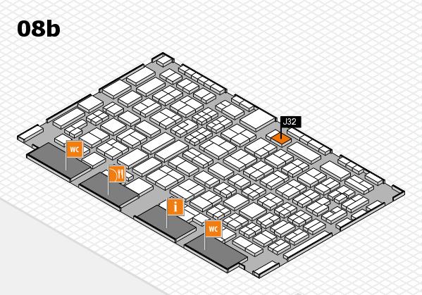 COMPAMED 2016 hall map (Hall 8b): stand J32