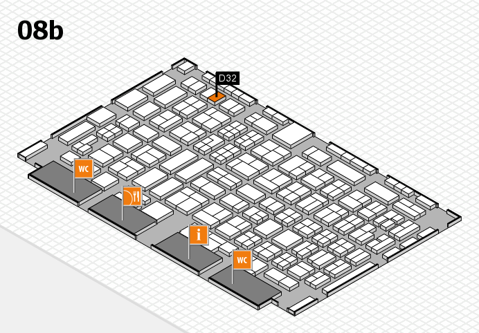 COMPAMED 2016 hall map (Hall 8b): stand D32