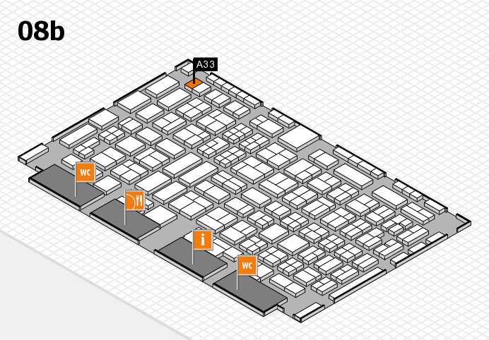 COMPAMED 2016 hall map (Hall 8b): stand A33