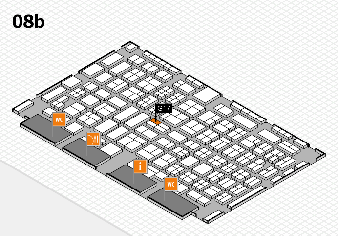 COMPAMED 2016 hall map (Hall 8b): stand G17