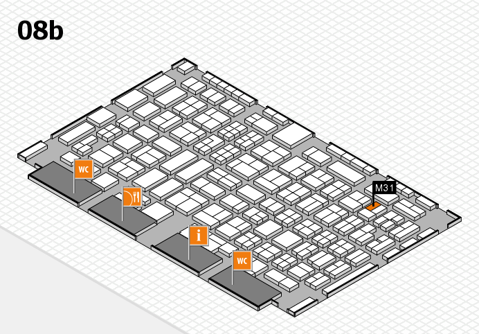 COMPAMED 2016 hall map (Hall 8b): stand M31