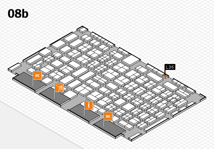 COMPAMED 2016 hall map (Hall 8b): stand L36
