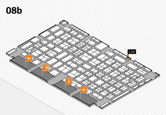 COMPAMED 2016 Hallenplan (Halle 8b): Stand L36