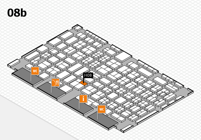 COMPAMED 2016 hall map (Hall 8b): stand H08