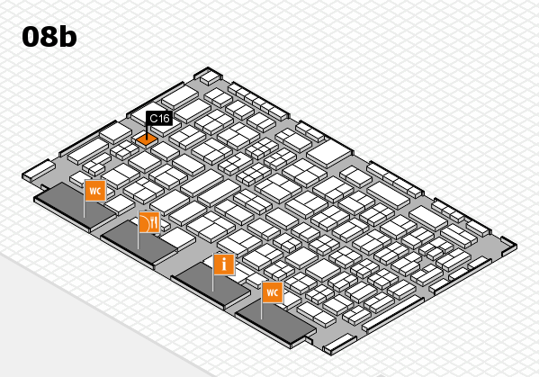 COMPAMED 2016 hall map (Hall 8b): stand C16