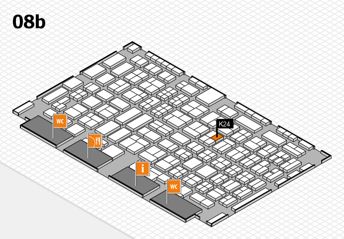COMPAMED 2016 hall map (Hall 8b): stand K24