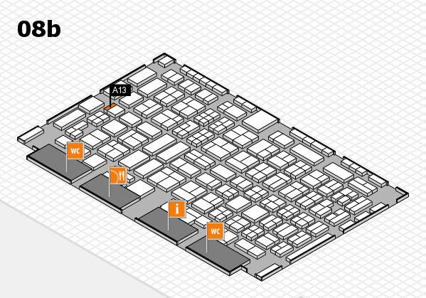 COMPAMED 2016 hall map (Hall 8b): stand A13
