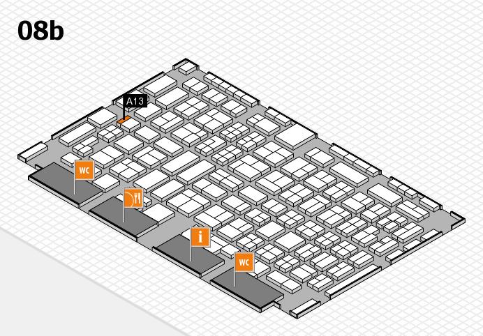 COMPAMED 2016 Hallenplan (Halle 8b): Stand A13