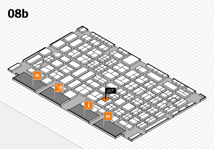 COMPAMED 2016 hall map (Hall 8b): stand J07