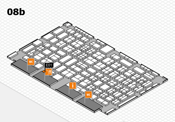 COMPAMED 2016 hall map (Hall 8b): stand E01