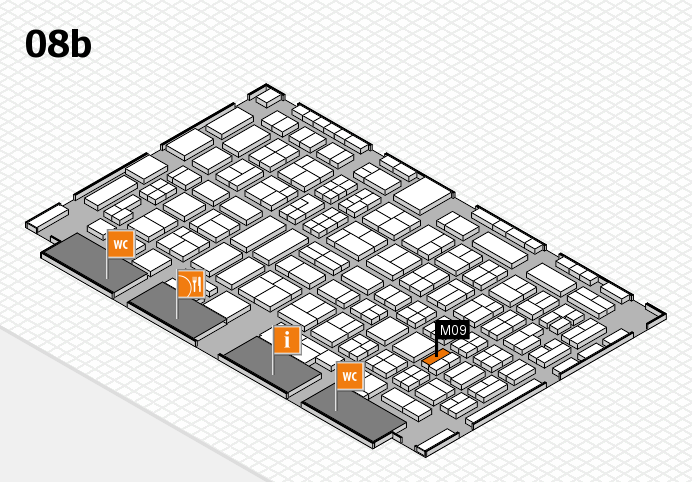 COMPAMED 2016 hall map (Hall 8b): stand M09