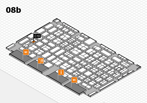 COMPAMED 2016 hall map (Hall 8b): stand C10