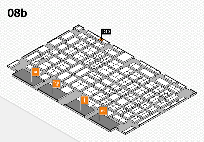 COMPAMED 2016 hall map (Hall 8b): stand D40