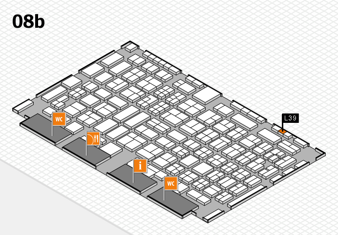 COMPAMED 2016 hall map (Hall 8b): stand L39