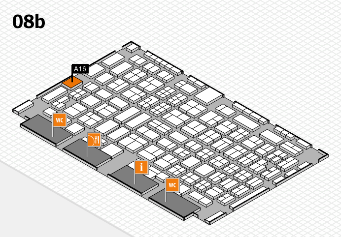 COMPAMED 2016 hall map (Hall 8b): stand A16