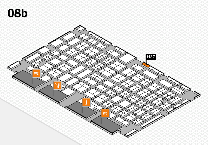 COMPAMED 2016 hall map (Hall 8b): stand H37