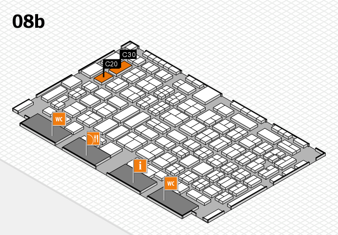 COMPAMED 2016 hall map (Hall 8b): stand C20, stand C30
