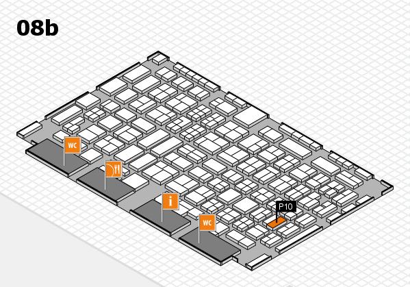 COMPAMED 2016 hall map (Hall 8b): stand P10