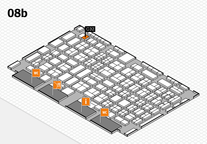 COMPAMED 2016 hall map (Hall 8b): stand C32