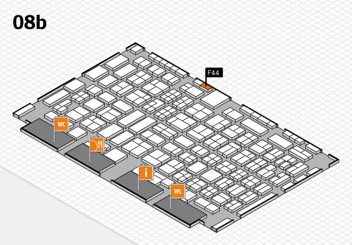 COMPAMED 2016 hall map (Hall 8b): stand F44