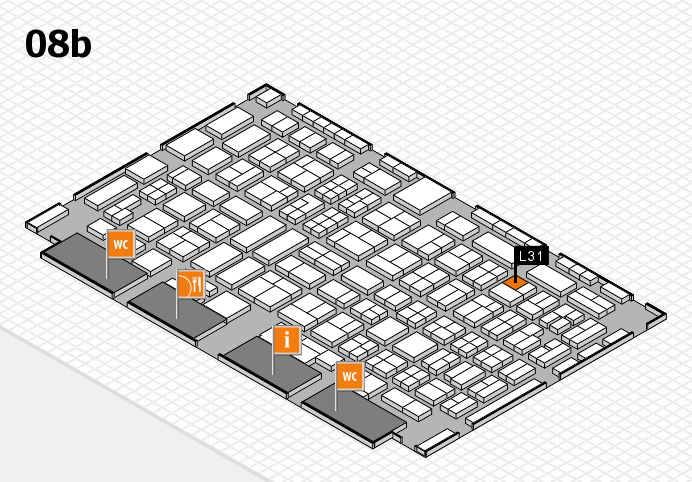 COMPAMED 2016 hall map (Hall 8b): stand L31