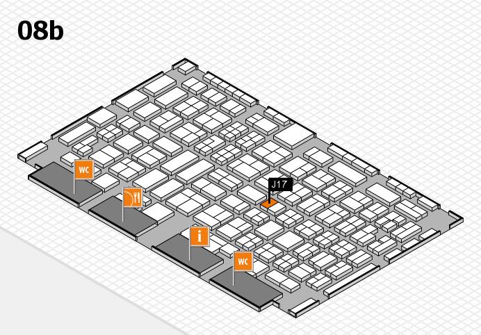 COMPAMED 2016 Hallenplan (Halle 8b): Stand J17