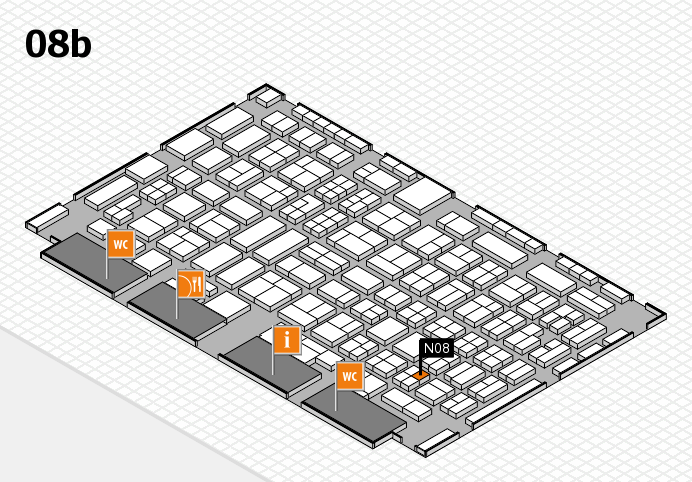 COMPAMED 2016 hall map (Hall 8b): stand N08