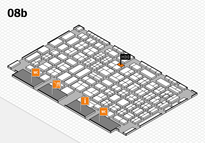 COMPAMED 2016 hall map (Hall 8b): stand H30