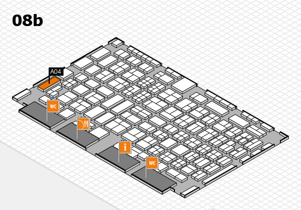COMPAMED 2016 hall map (Hall 8b): stand A04