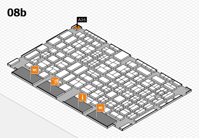 COMPAMED 2016 hall map (Hall 8b): stand A36