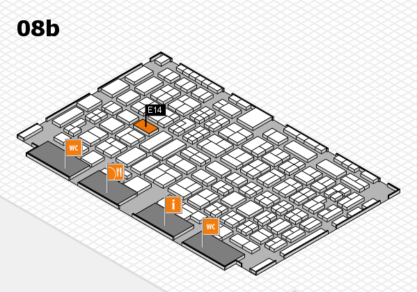 COMPAMED 2016 hall map (Hall 8b): stand E14