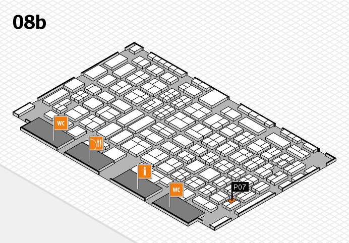 COMPAMED 2016 hall map (Hall 8b): stand P07
