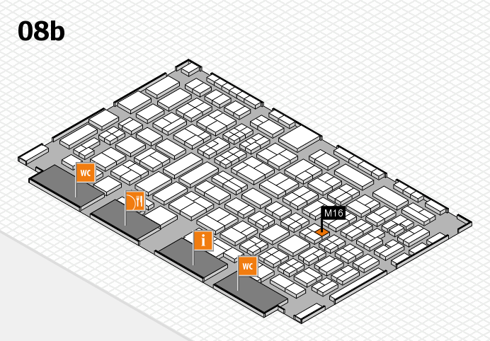 COMPAMED 2016 hall map (Hall 8b): stand M16